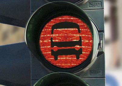Rote Ampel für den Bus
