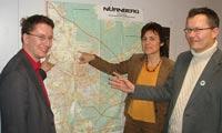 v. links: Manfred Bachmayer, Christine Seer, Berthold Lausen