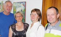 Dieter Argast, Susanne Lender-Cassens und Ehepaar Walentina und Gennadij Stachurlow