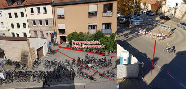 Fahrräder am E-Werk