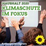 Haushalt 2020: GRÜNE/Grüne Liste stellen Klimaschutz in den Mittelpunkt