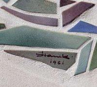 Mosaik in der Schallershofer Straße von Oskar J. Stanik