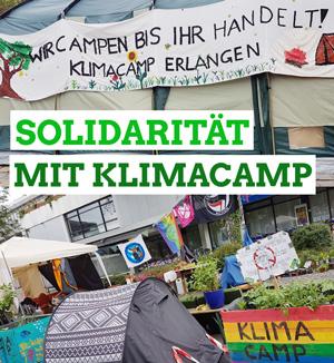 Solidarität mit Klimacamp Erlangen