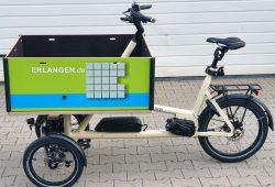Städtisches Lastenrad zum Ausleihen in Erlangen0
